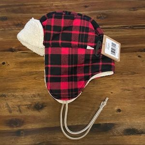 The North Face Sherpa Canvas Plaid Trapper Winter Hat NWT
